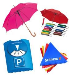 Schirme, Eiskratzer & Parkscheiben