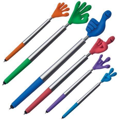 Flexy Smile-Hand-Kugelschreiber mit Touchpad