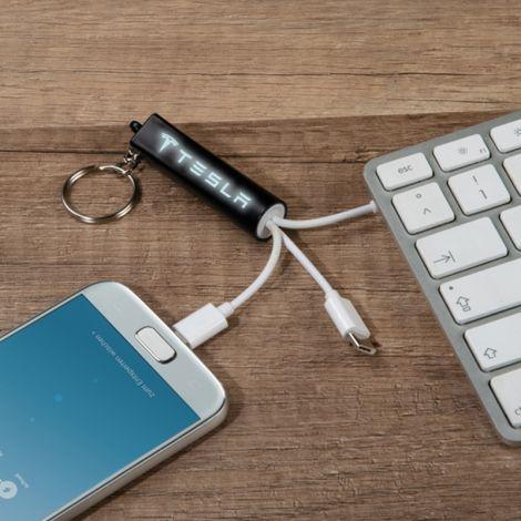 Ladekabel 3in1 USB Lightning mit Leuchtgravur *NEU*