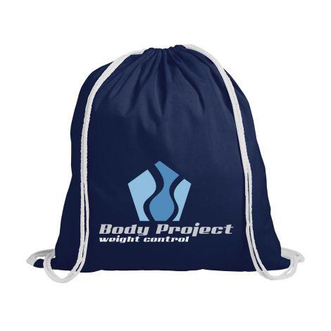 Rucksack Sportbeutel Eventbag aus Baumwolle mit Logo