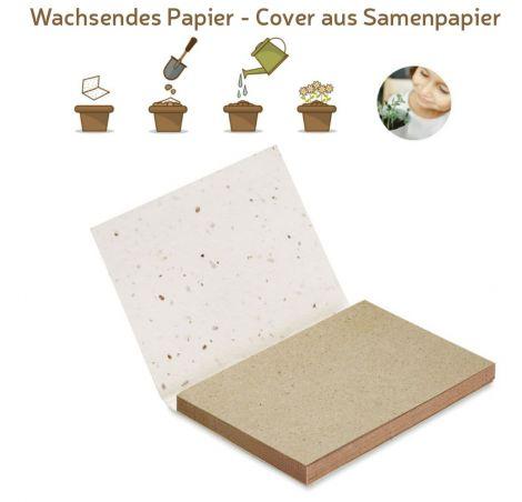 Haftnotizen aus Graspapier mit Pflanzsamen
