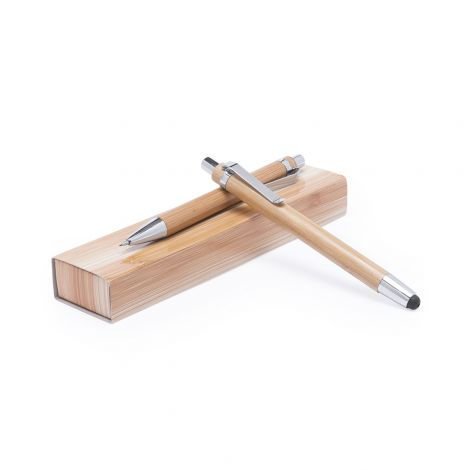 Schreibset Bambus Bleistift mit 3D Gravur